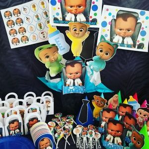 Boss baby Black boy Party supplies